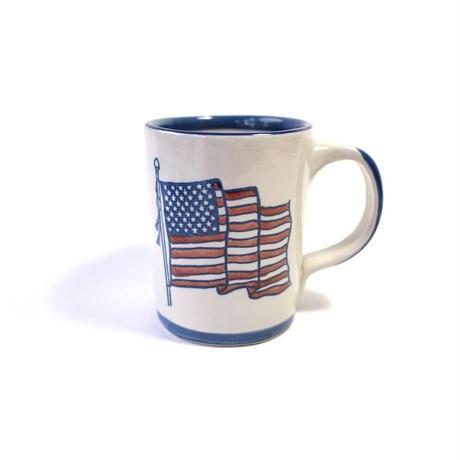 US Flag Stoneware Mug