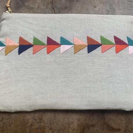 【IBABA RWANDA】手刺繍ポーチ