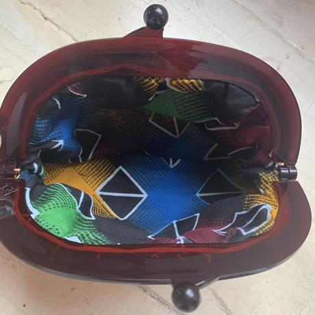 アフリカ布キテンゲ がま口ポーチ