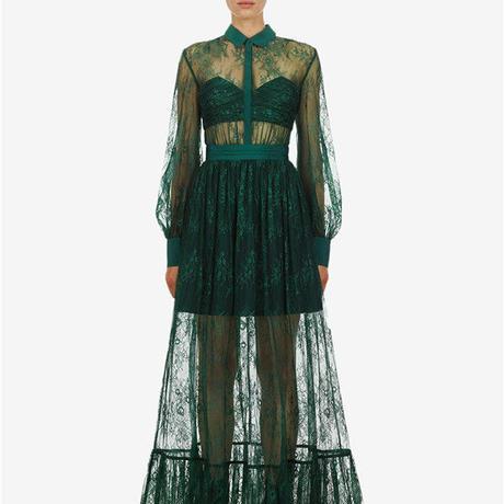 Self-Portrait     ワンピース floral fine lace maxi dress  21-04 定価$480