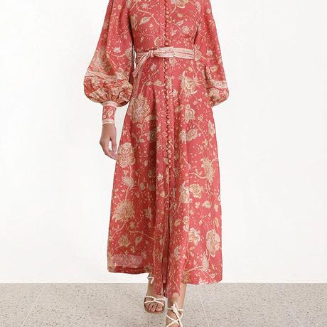 zimmermann ジマーマン Veneto Border paisley-print linen dress  ワンピース$750