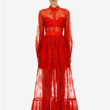 Self-Portrait     ワンピース floral fine lace maxi dress  21-03  定価$480