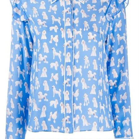 Alice+Olivia   poodle print blouse トップス  定価$395