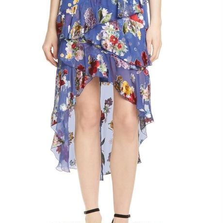 Alice+Olivia  Mariel Floral Ruffle Skirt スカート 定価$440