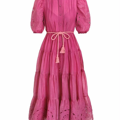 zimmermann ジマーマンTEDDY SCALLOP FRILL MID DRESS ワンピース 定価$995