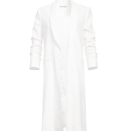 Alice+Olivia   ALICE + OLIVIA - Muriel Scrunched Slit Sleeve Coat in Off White コート 定価$440