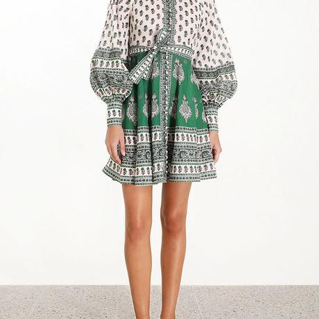 zimmermann ジマーマン Amari Emerald Buttoned Dress in Green Paisley  ワンピース$630