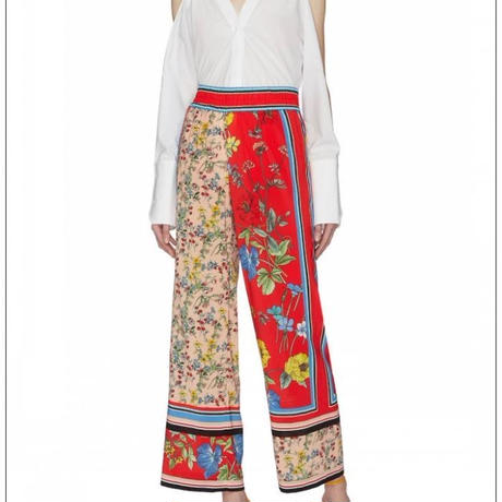 Alice+Olivia   Benny Smocked-Waistband Pants パンツ  定価$393