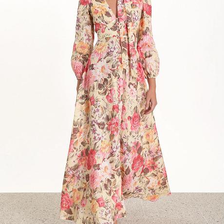 zimmermann ジマーマン floral pussy bow maxi dress  ワンピース$1228