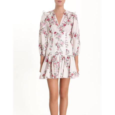 zimmermann ジマーマンHonour floral print corset mini dress  ワンピース$1175