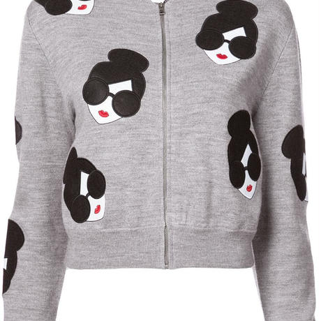 Alice+Olivia   THERON STACEFACE ZIP UP CARDIGAN カーディガン 定価$440