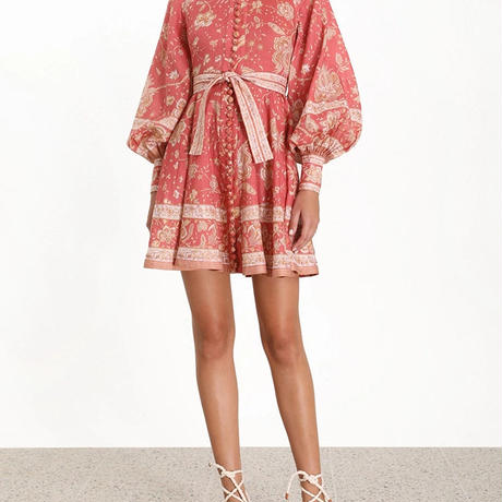 zimmermann ジマーマン Amari Emerald Buttoned Dress   ワンピース$630