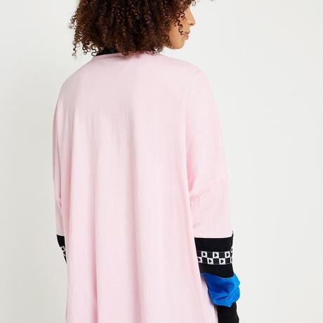 LAZY OAF  Pink Panel Long-Sleeve T-Shirt
