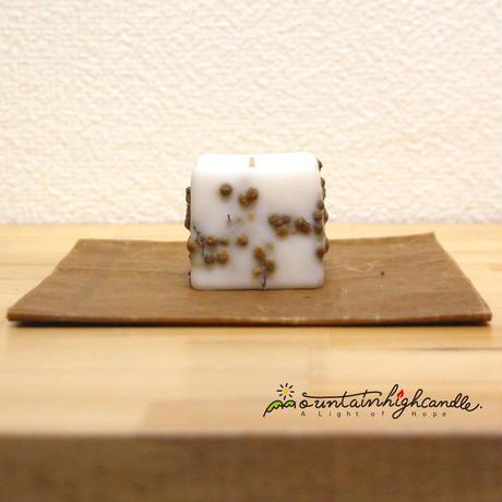 ボタニカルキューブキャンドル(白)