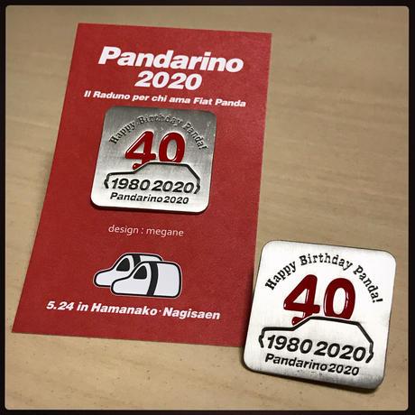 パンダ40周年記念ピンバッジ