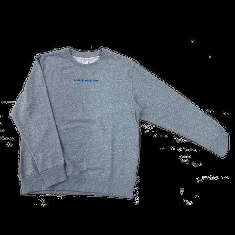 冬グッズ刺繍スウェット / グレー