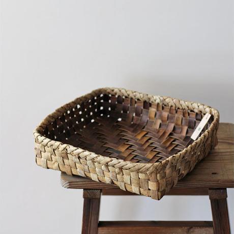 胡桃の置き籠(大) (クルミ/くるみ)  整理籠 小物入れ オズのかごバッグ
