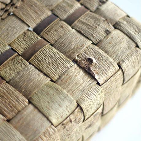 沢胡桃のかごバッグ  表皮 34cm幅  横長シルエット