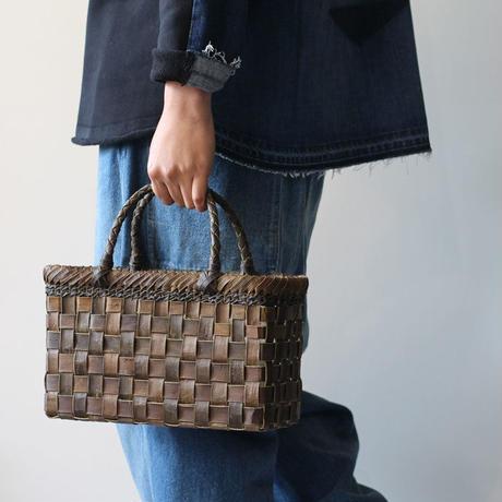 裏皮 胡桃のかごバッグ  (クルミ/沢くるみ/籠)  オズのかごバッグ