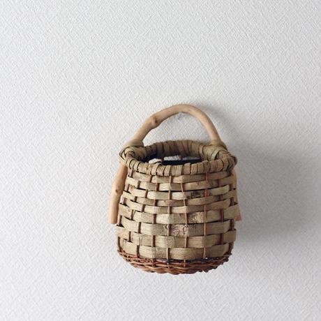 沢胡桃×あけび 壁掛け籠 インテリアバスケット