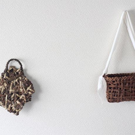 乱れ編みの沢胡桃 トレイ  / 浅いかご(籠) / 収納や小物入れなど ozb-710