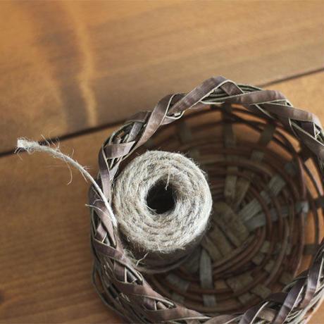 沢胡桃×あけび蔓 丸い置き籠 円形の小物入れかご