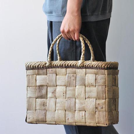 胡桃のかごバッグ  (クルミ/くるみ/籠) 太ヒゴ編み オズのかごバッグ