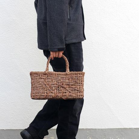 山葡萄のかごバッグ  網代乱れ 手提げ籠