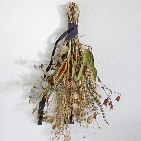 スワッグ   穀物リーフドライやニゲラ ユーカリなど  ozf-082