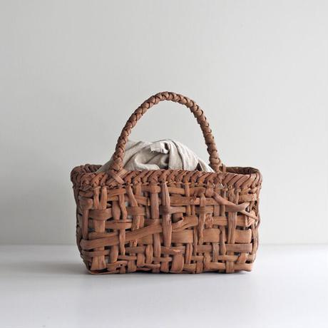 山葡萄のかごバッグ   26cm幅 あずま袋付き 国産(岩手県産樹皮)  ワンハンドル