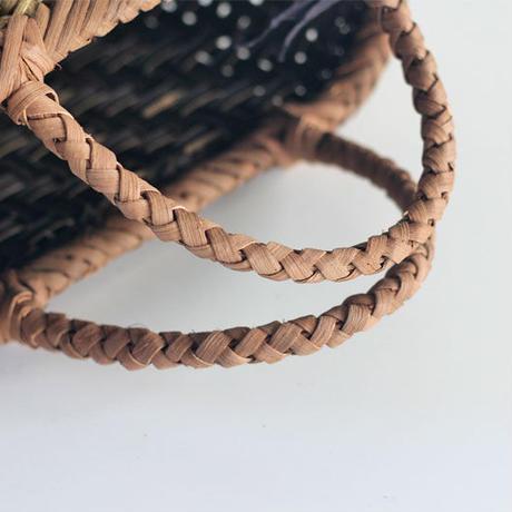 『丸み 網代編み 表皮×山葡萄』沢胡桃のかごバッグ 27cm幅
