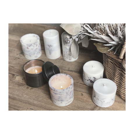 【100% natural essential oil】 soy candle