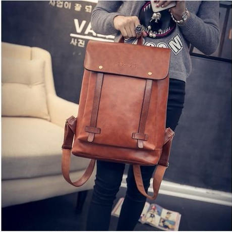 square antique backpack
