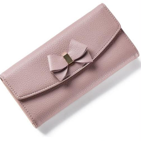 ribbon leather wallet