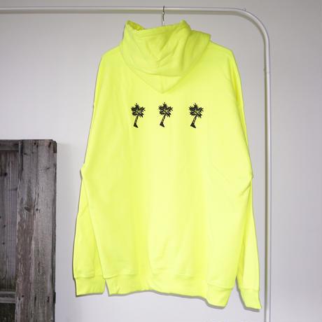 PARADISE GARAGESALE / Palm Hoodie Neon Yellow