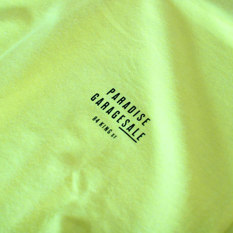 PARADISE GARAGESALE / Palm L/S shirts Neon Yellow