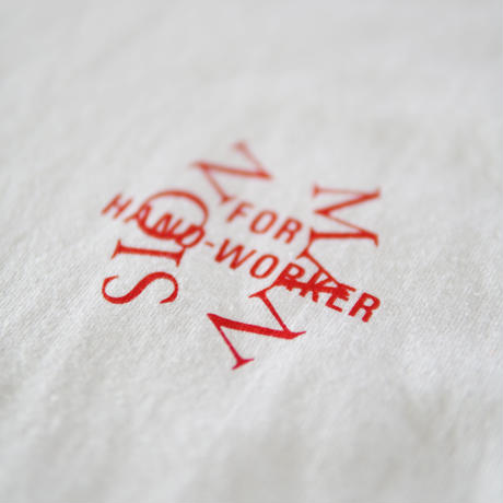 MAN-SION / Hand Worker Tshirts White