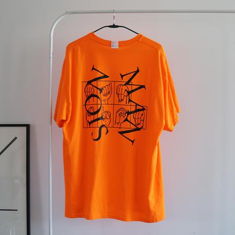MAN-SION / Hand Worker Tshirts Neon Orange
