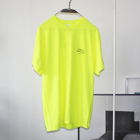 PARADISE GARAGESALE / Palm T-shirts Neon Yellow