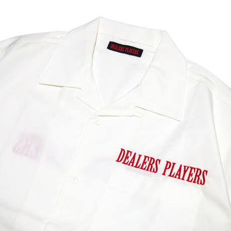 DEALERS PLAYERS / Embroidered OG Opencollar Short Sleeve Shirt (2colors)