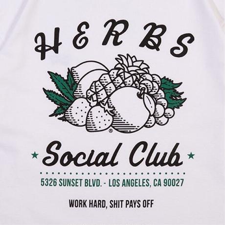 RULER / HERBS SOCIAL CLUB L/S TEE (2colors)