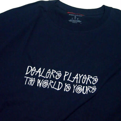 DEALERS PLAYERS / Embroidered Sean T-shirt (4colors)