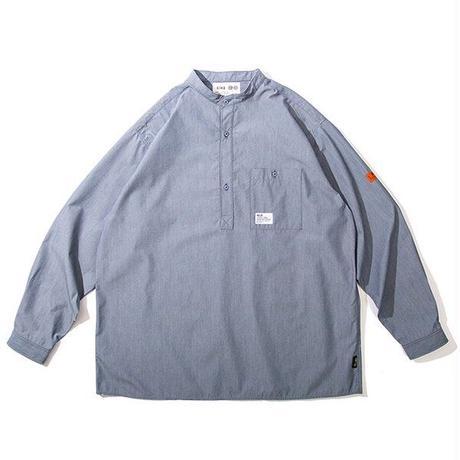 RULER / No Collar Cordura Pullover Shirt (2colors)
