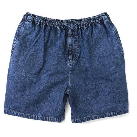 Chemical Washed Color Denim Shorts