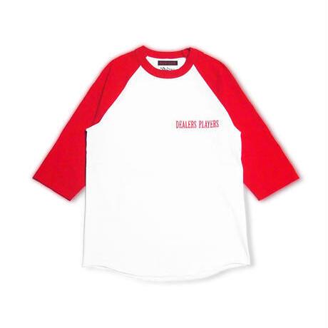 DEALERS PLAYERS/ Embroidered 3/4 Sleeve Raglan OG T-shirt