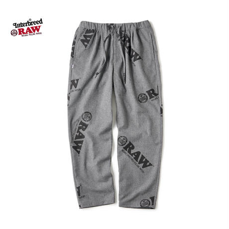 RAW×INTERBREED / Logo Textile Trouser (2colors)