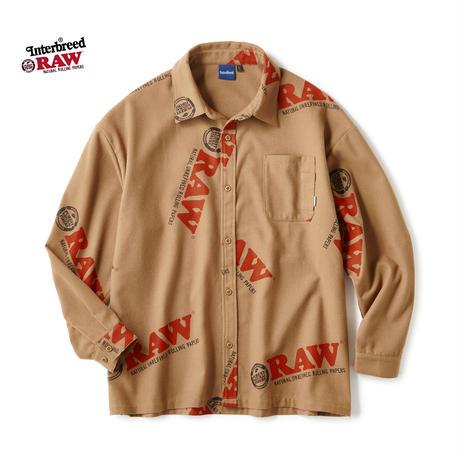 RAW×INTERBREED / Logo Textile Work Shirts (2colors)
