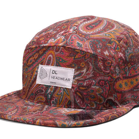 "Omega 5Panel Camp cap ""paisley wine"