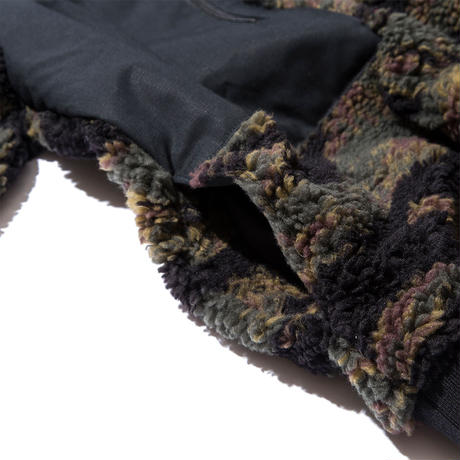 CAMOUFLAGE BOA FLEECE JACKET