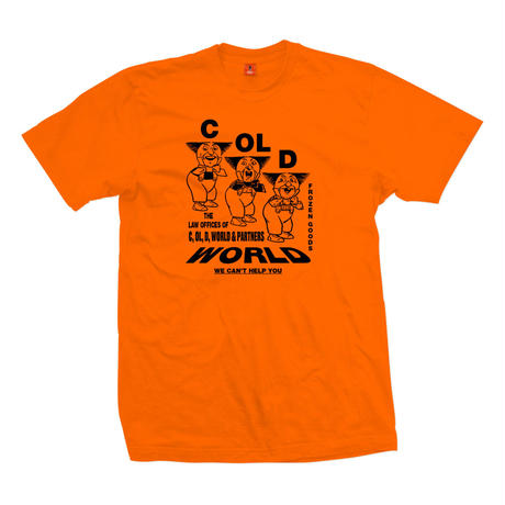 COLD WORLD FROZEN GOODS / Personal injury T-Shirt (3colors)